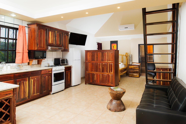 Premium cabin with full kitchen