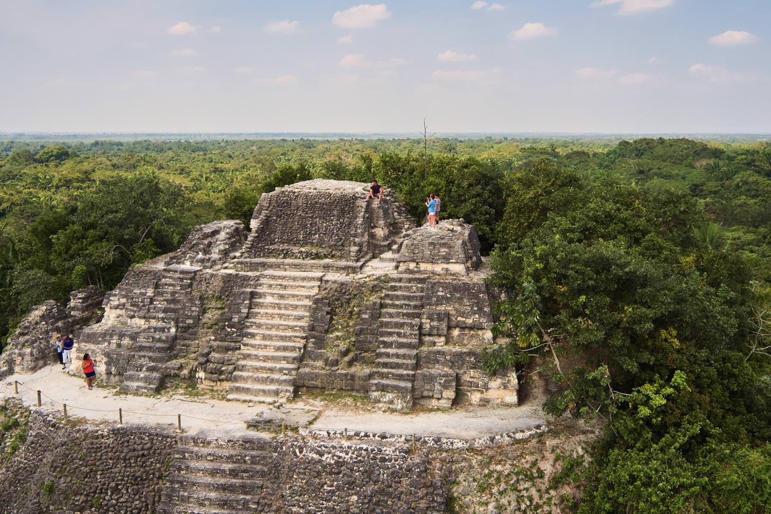 High Temple at the ancient city of Lamanai in Orange Walk, Belize